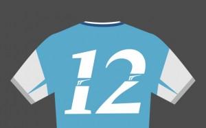 A tradicional camisa 12 de São Marcos.