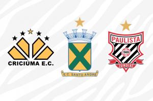 Criciúma, Santo André e Paulista campeões da Copa do Brasil em 1991, 2004 e 2005.