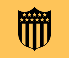 Escudo do Peñarol de 1936 - estrelas representam os 11 jogadores
