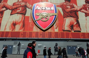 Escudo do Arsenal no Emirates Stadium