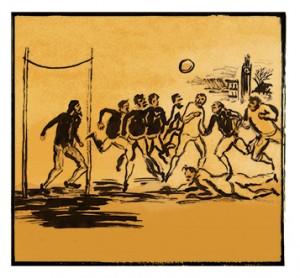 Também em 1863, na Inglaterra, foi realizada a primeira partida de futebol com as novas regras