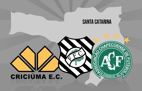Criciúma, Figueirense e Chapecoense representam SC na Série A