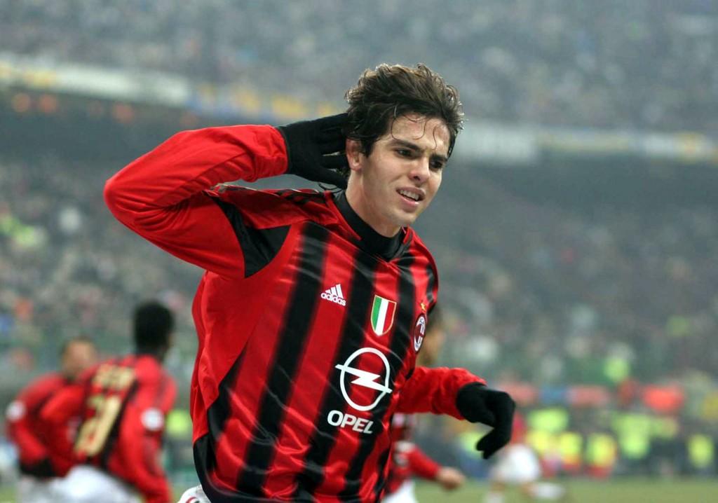 Kaká, um dos responsáveis pela força da marca Milan no Brasil