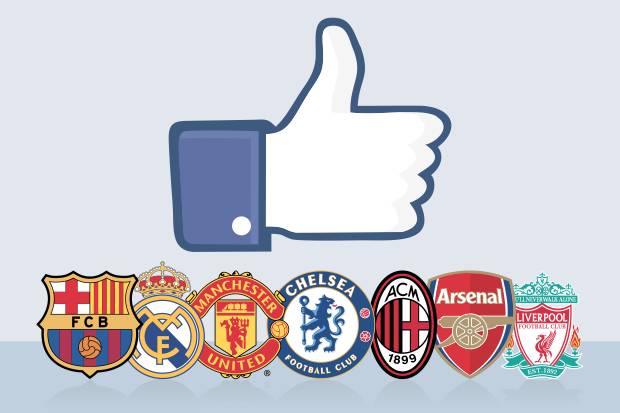 Os clubes mais populares do Facebook