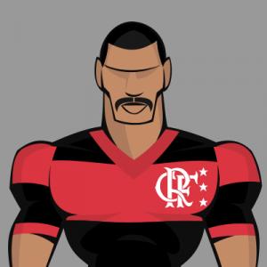Top 7 bigodes do futebol - Júnior campeão da Libertadores com o Fla em 1981