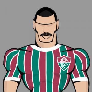 Top 7 bigodes do futebol - Rivelino com a camisa do Flu em 1976