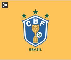 Escudo do Brasil nas Copas de 1982 com o ramo de café.