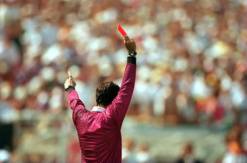 Copa do Mundo 1994. Bolívia vs Alemanha: expulsão de Marco ETCHEVERRY.