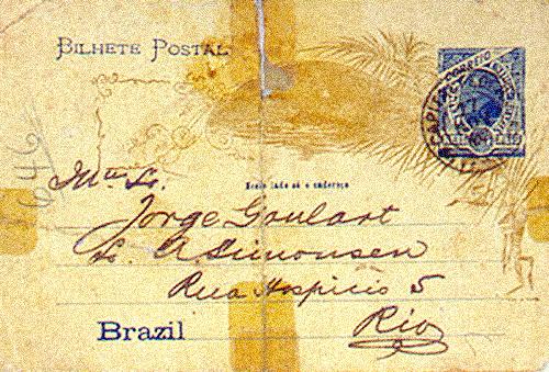Postal (frente) para fundação do Rio Team.