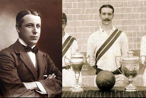 Oscar Cox e seu irmão, Edwin, tricampeão carioca em 1908.