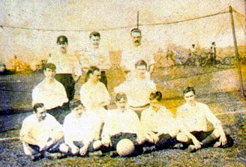 1901: Rio Team em sua excursão contra os paulistas.