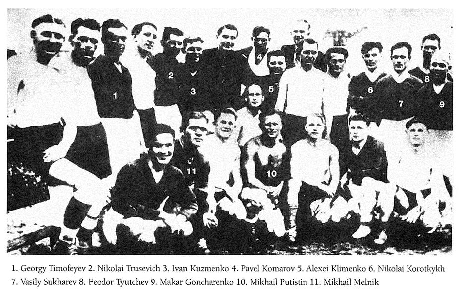 Jogadores do FC Start.