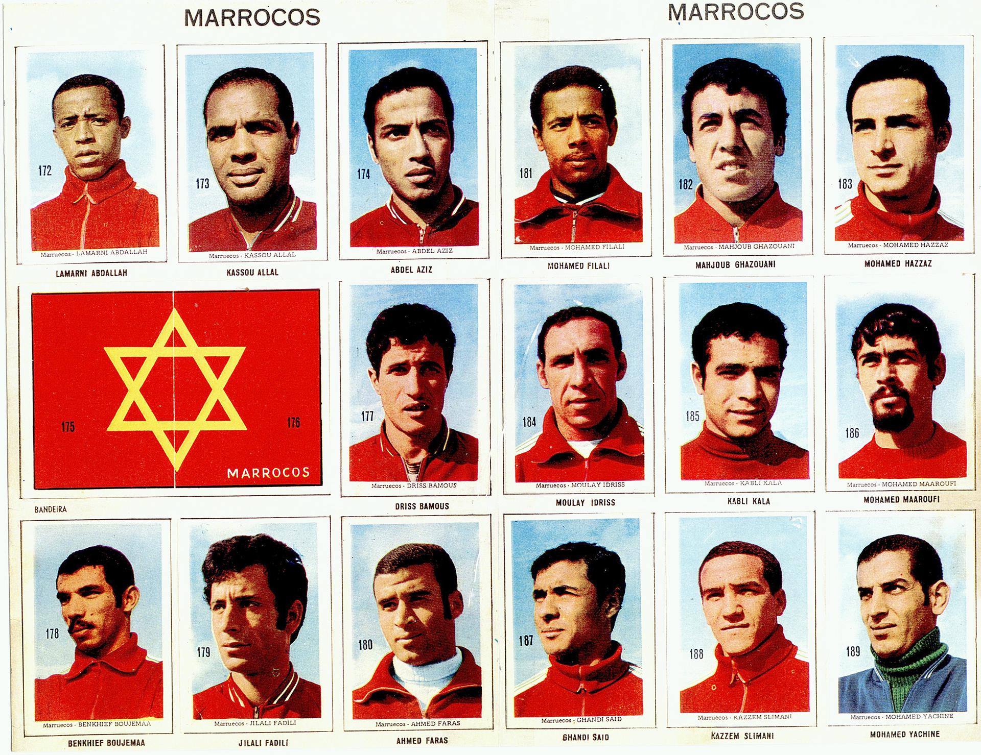 Resultado de imagem para marrocos FUTEBOL 1970