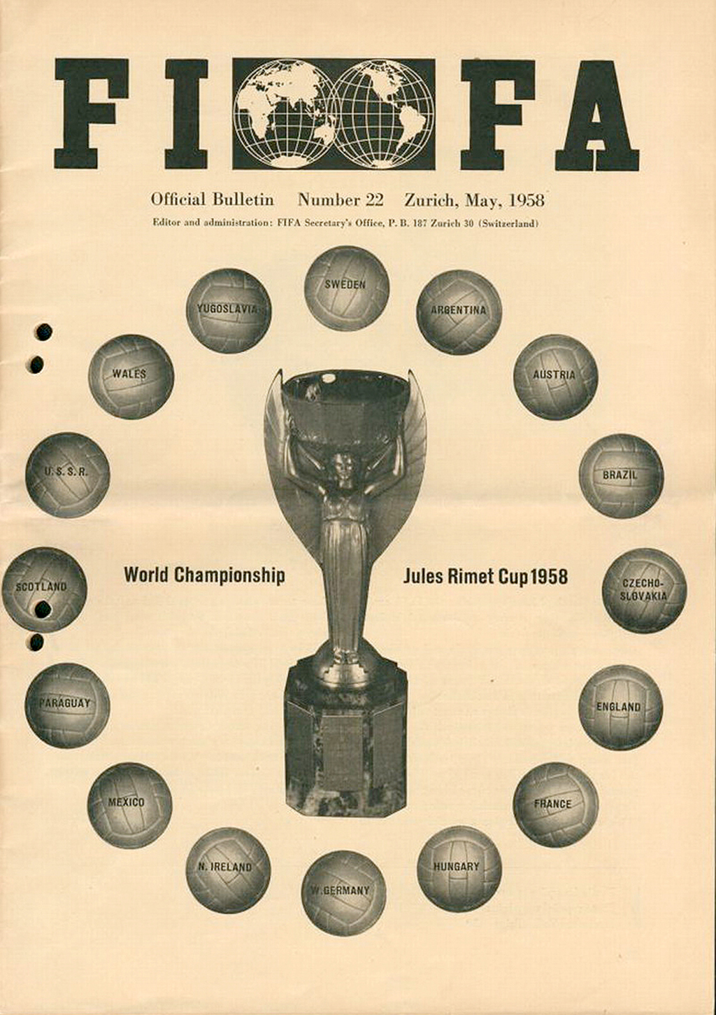1958 FIFA Magazin world cup tratada