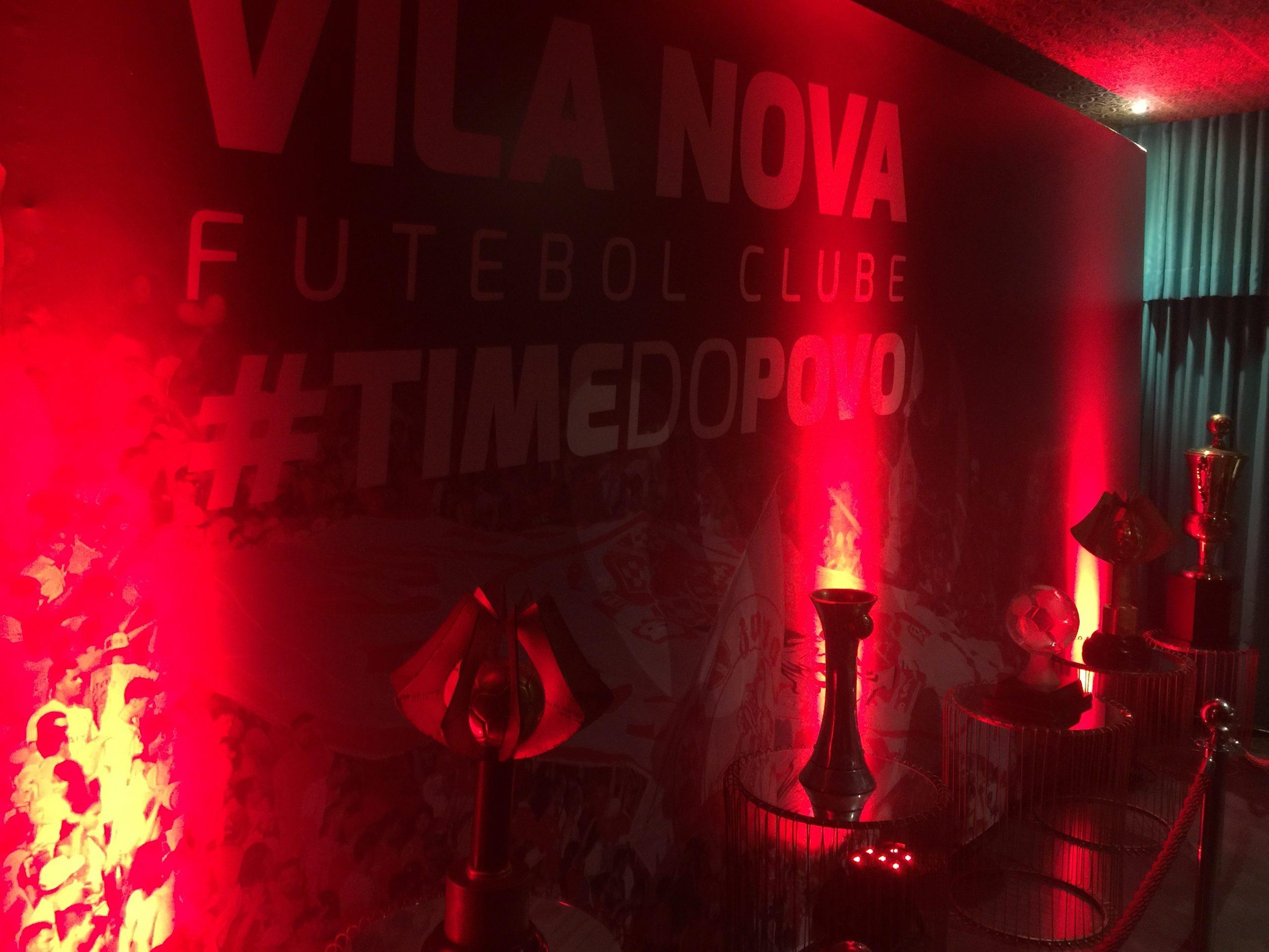 Galeria de troféus do Vila (entrada)