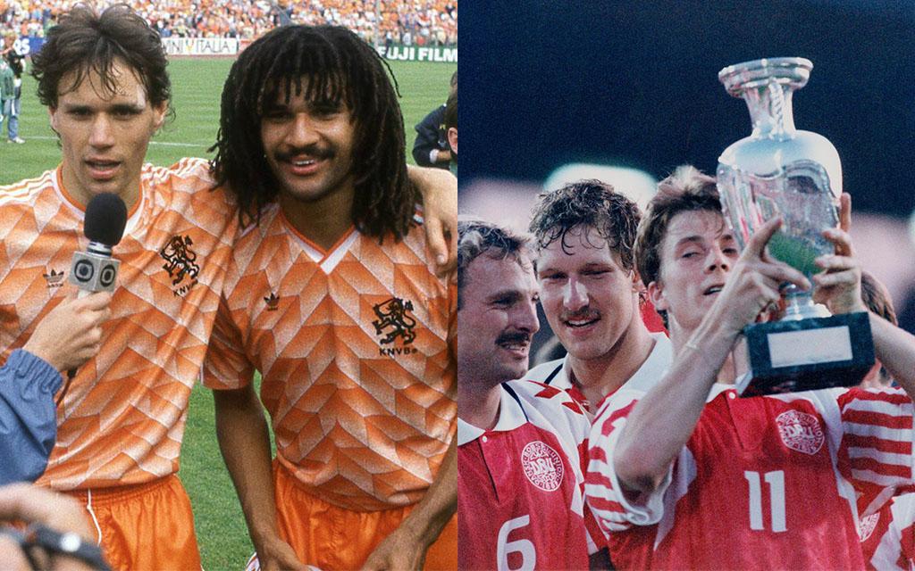 Marco Van Basten e Ruud Gullit (1988) e Brian Laudrup (1992)