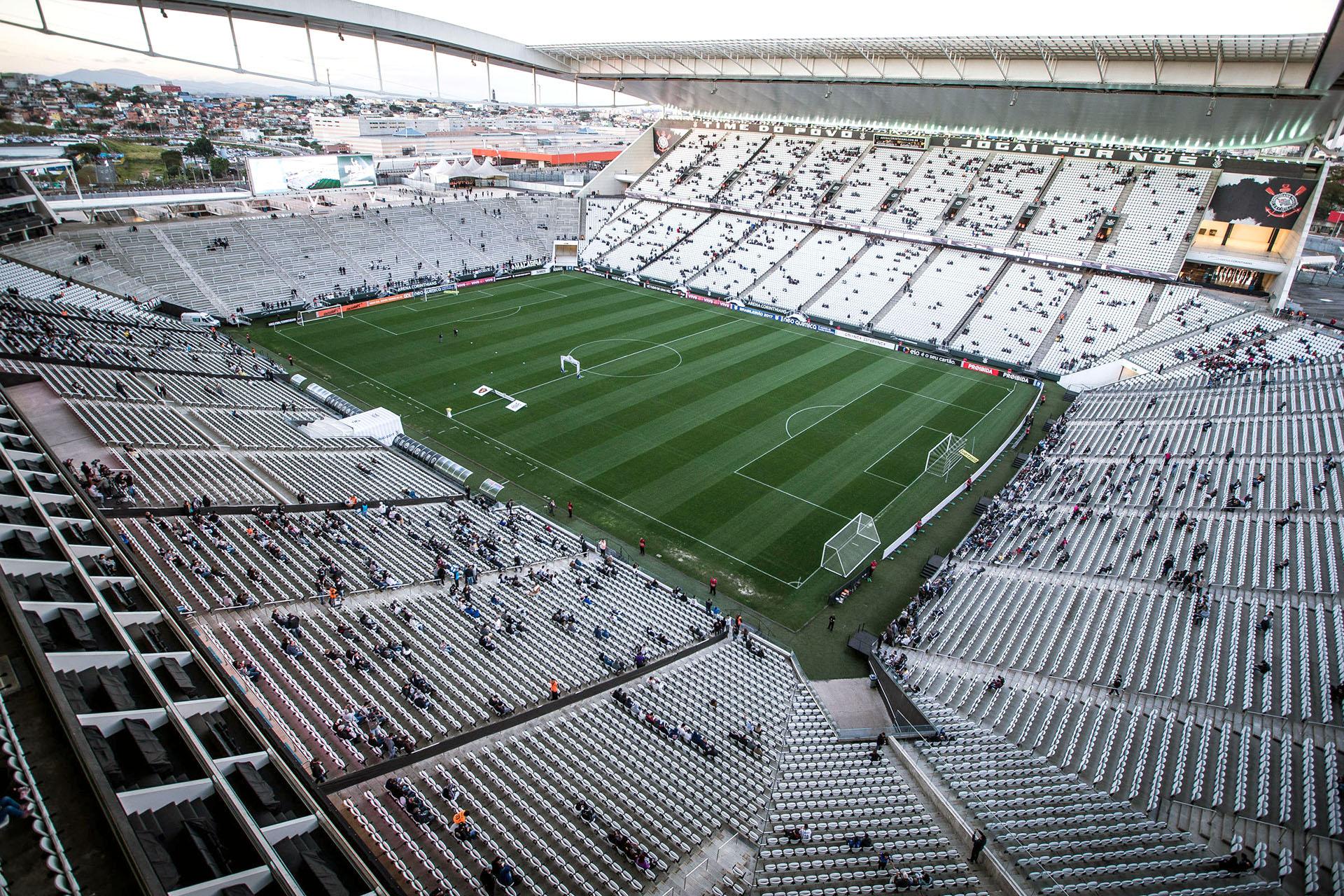 """Arena Corinthians, popularmente conhecida como """"Itaquerão""""."""