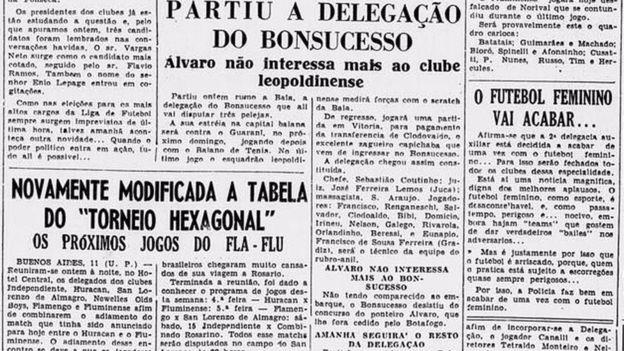 Aos poucos notícias sobre futebol feminino eram casos de polícia ou proibição | Foto: Biblioteca Nacional do RJ