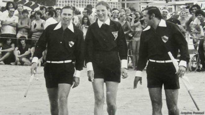 Léa Campos no início dos anos 1970 (Foto: Arquivo pessoal)