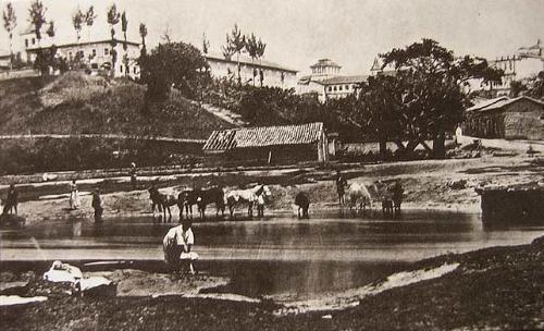 Campo da Várzea, onde em 1895 seria realizada a primeira partida de futebol do Brasil