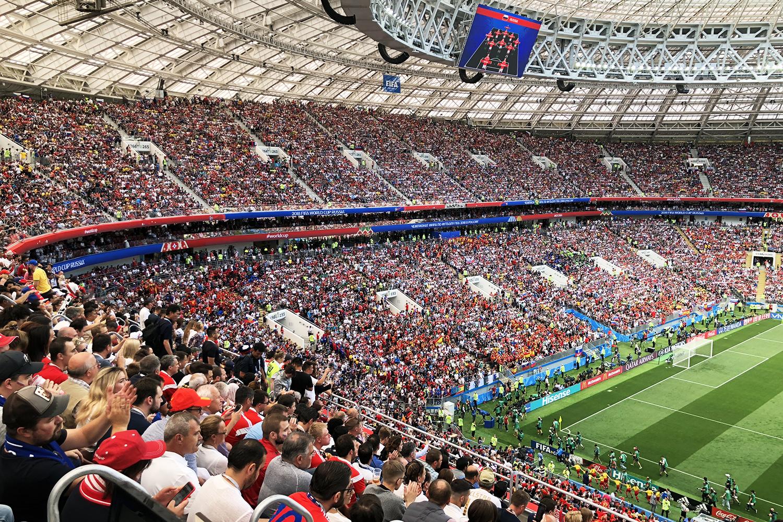 Copa de 2018: Rússia x Espanha. Torcida da casa presente!